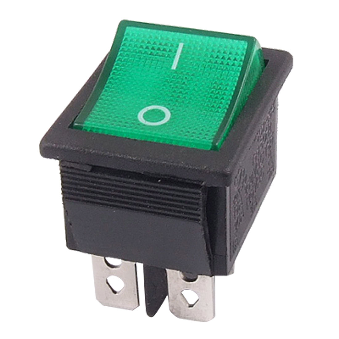 Green Light 4 Pin DPST ON-OFF Snap in Boat Rocker Switch 16A/250V 20A/125V AC
