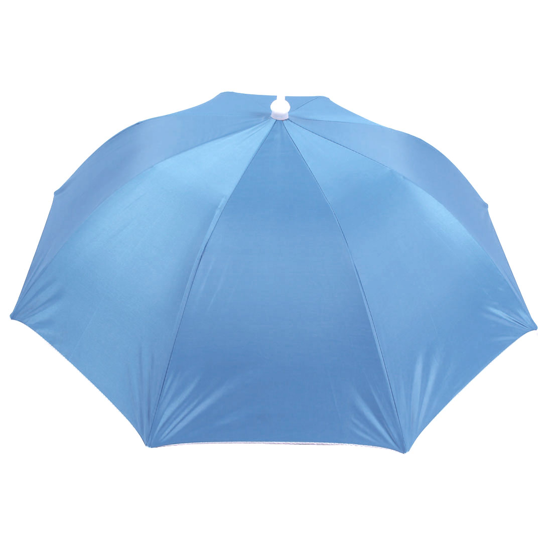 "28"" Dia. Baby Blue Polyester Hands Free Fishing Umbrella Hat"