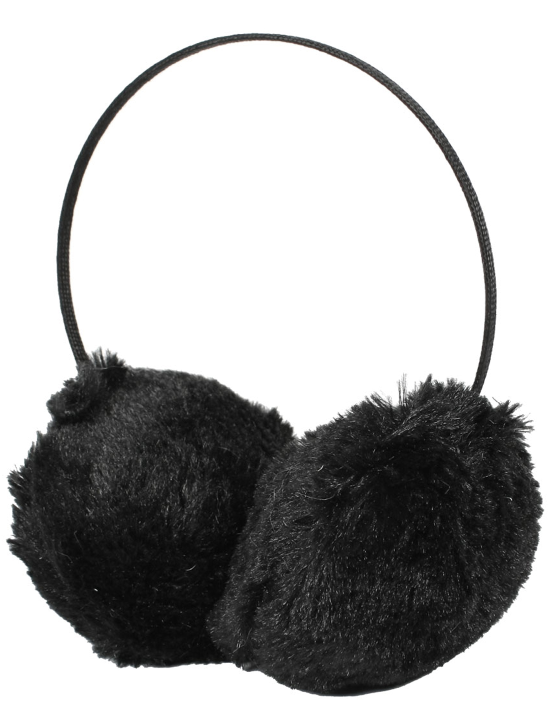 Black Fluffy Plush Winter Ear Warmer Earmuff Headband for Christmas