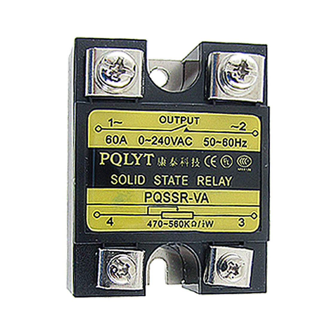 60A 0-240V AC SSR-60VA Solid State Relay Voltage Resistance Regulator