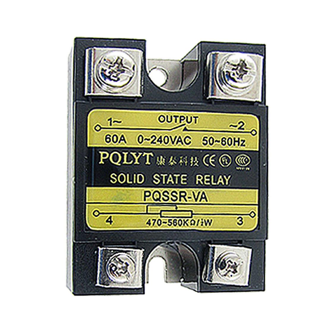 60A 0-240V AC SSR-60VA Solid State Relay Voltage Resistance Regulator
