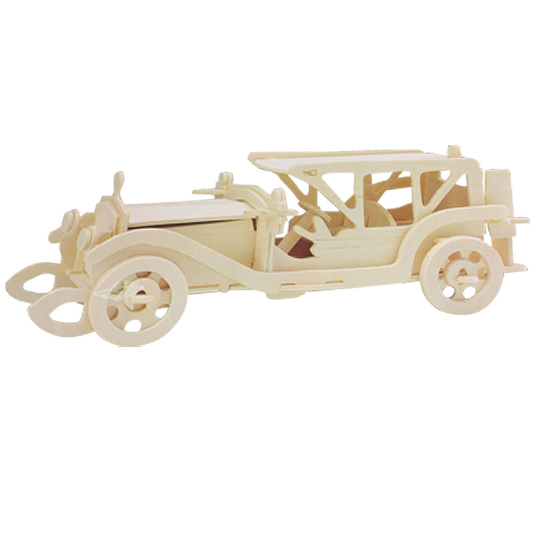 Puzzled 3D DIY Sunbeam Car Model Assemble Wooden Kit for Children