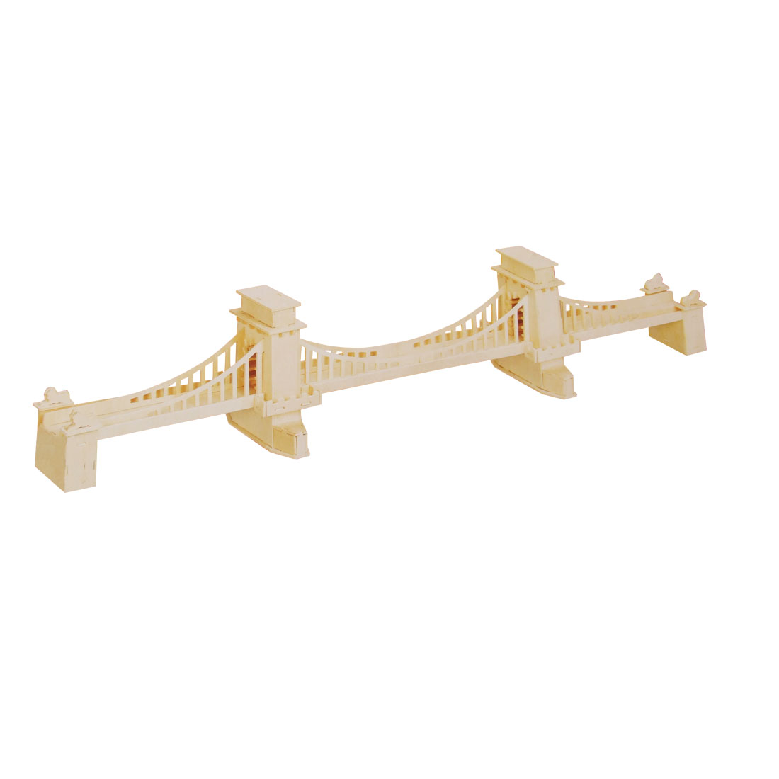 Brooklyn Bridge Design Wooden Woodcraft Construction Kit Puzzle Toy