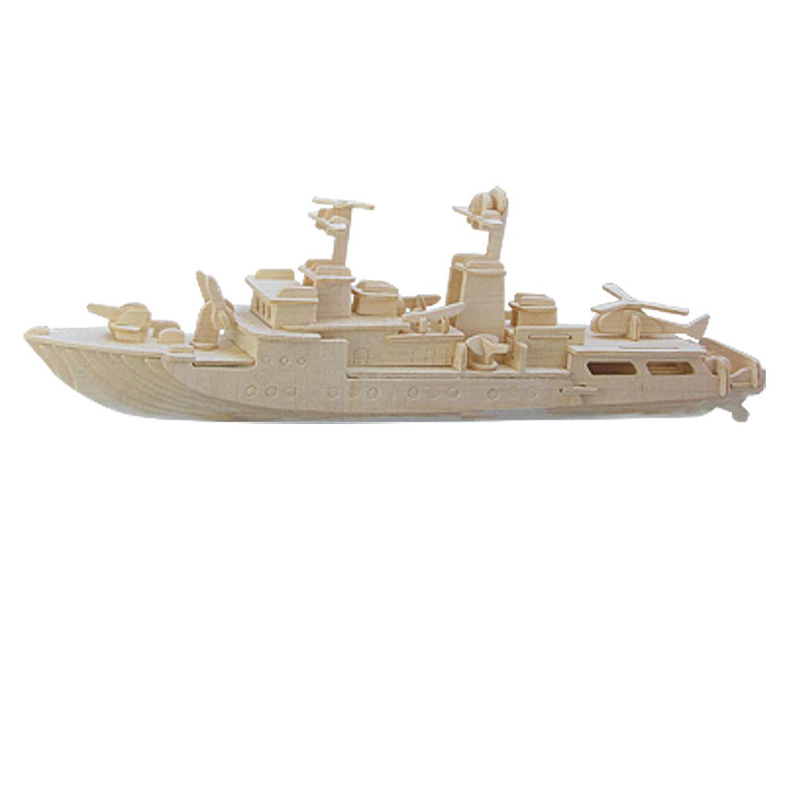 DIY 3D Wooden Destroyer Model Construction Kit Puzzle Toy