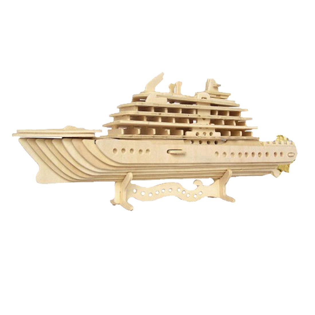 Luxury Yacht Model Wood Construction Kit DIY Puzzle Toy Gift