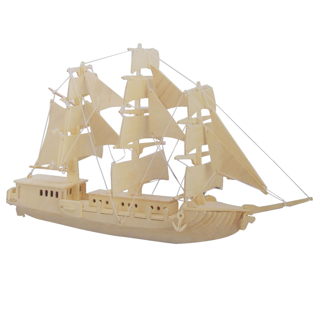 European Tall Ship Model Wood Construction Kit DIY Puzzle Toy