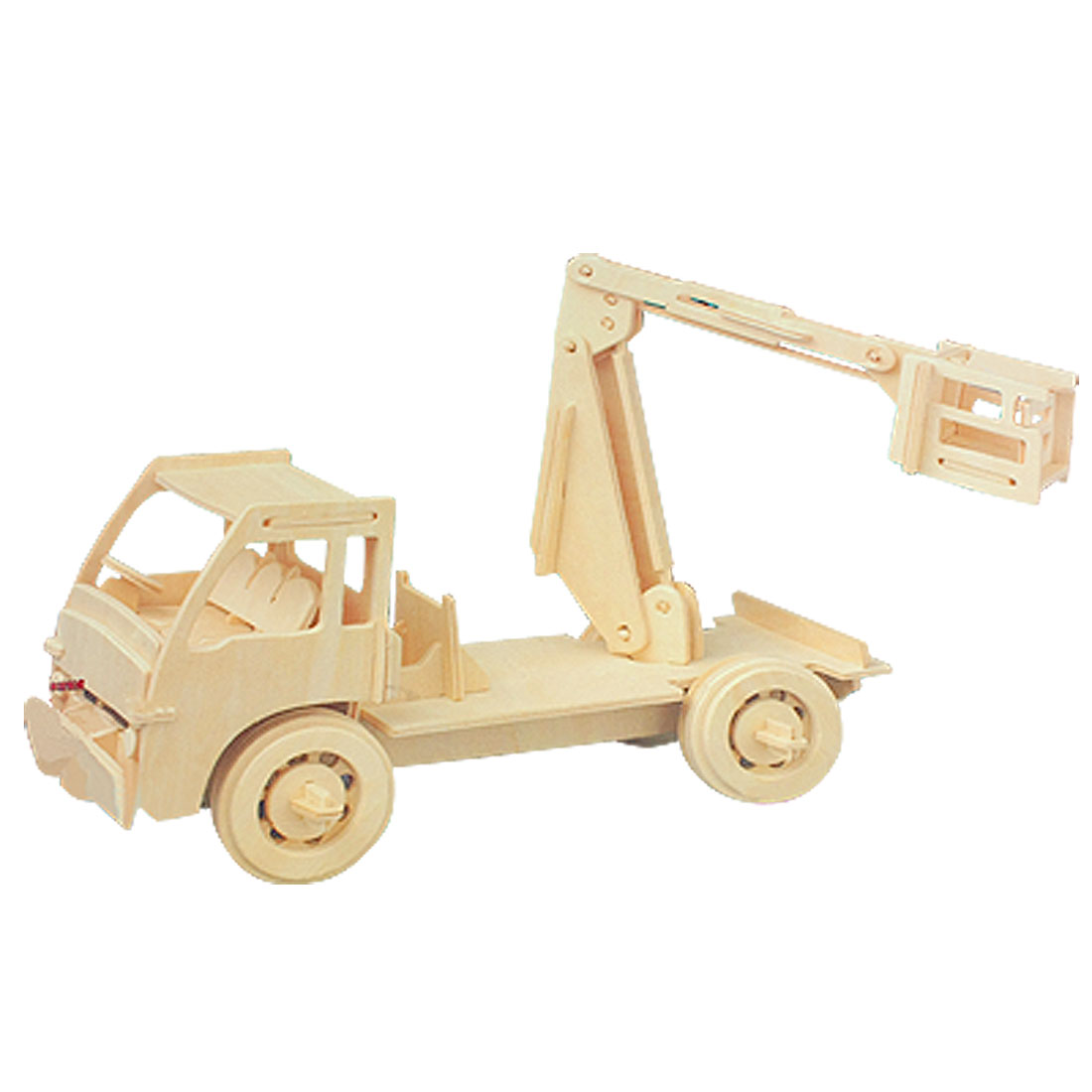Children Crane Model Woodcraft Construction Kit Puzzle Toy Gift