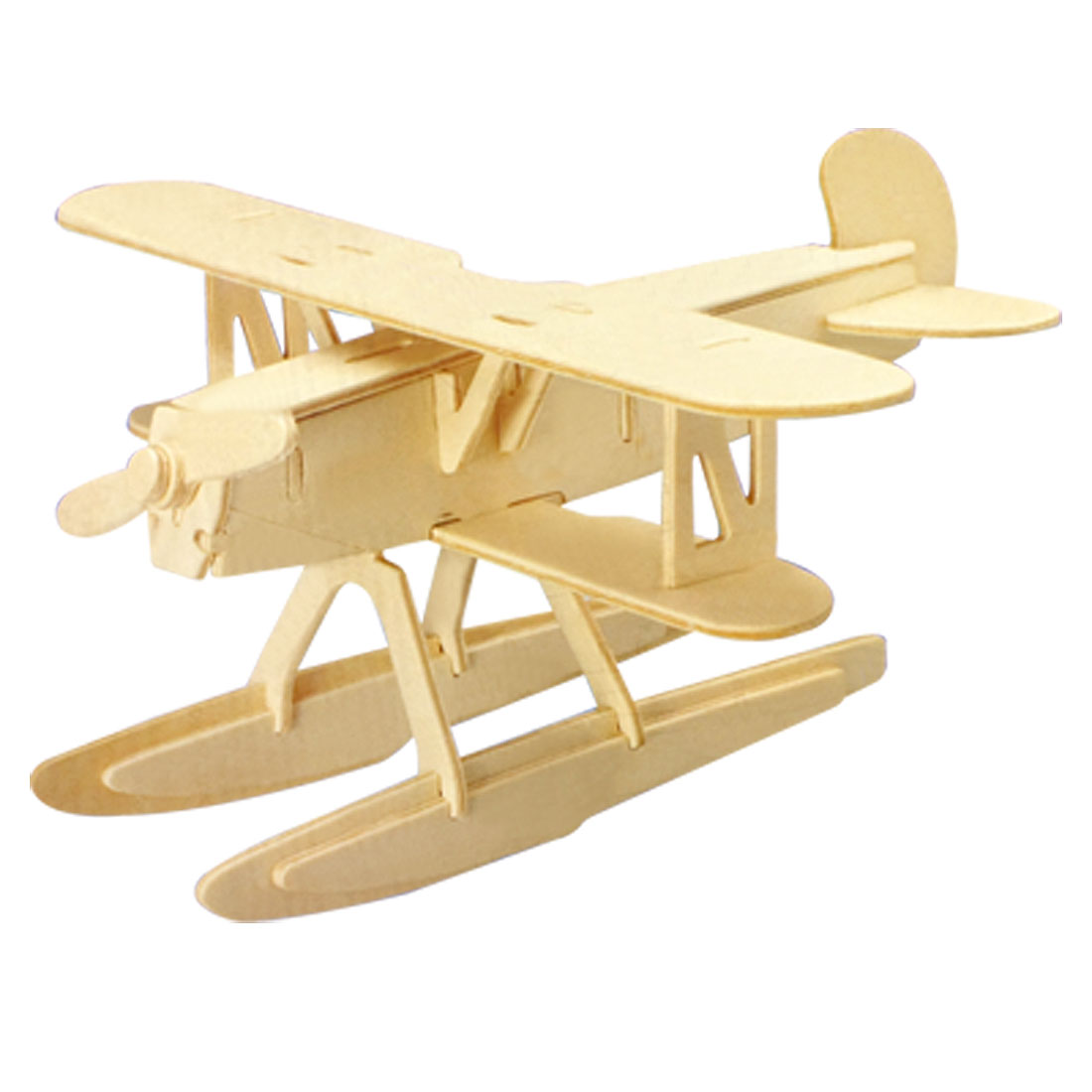 Child 3D Wooden Heinkel HE51 Plane Model Construction Kit Puzzle Toy