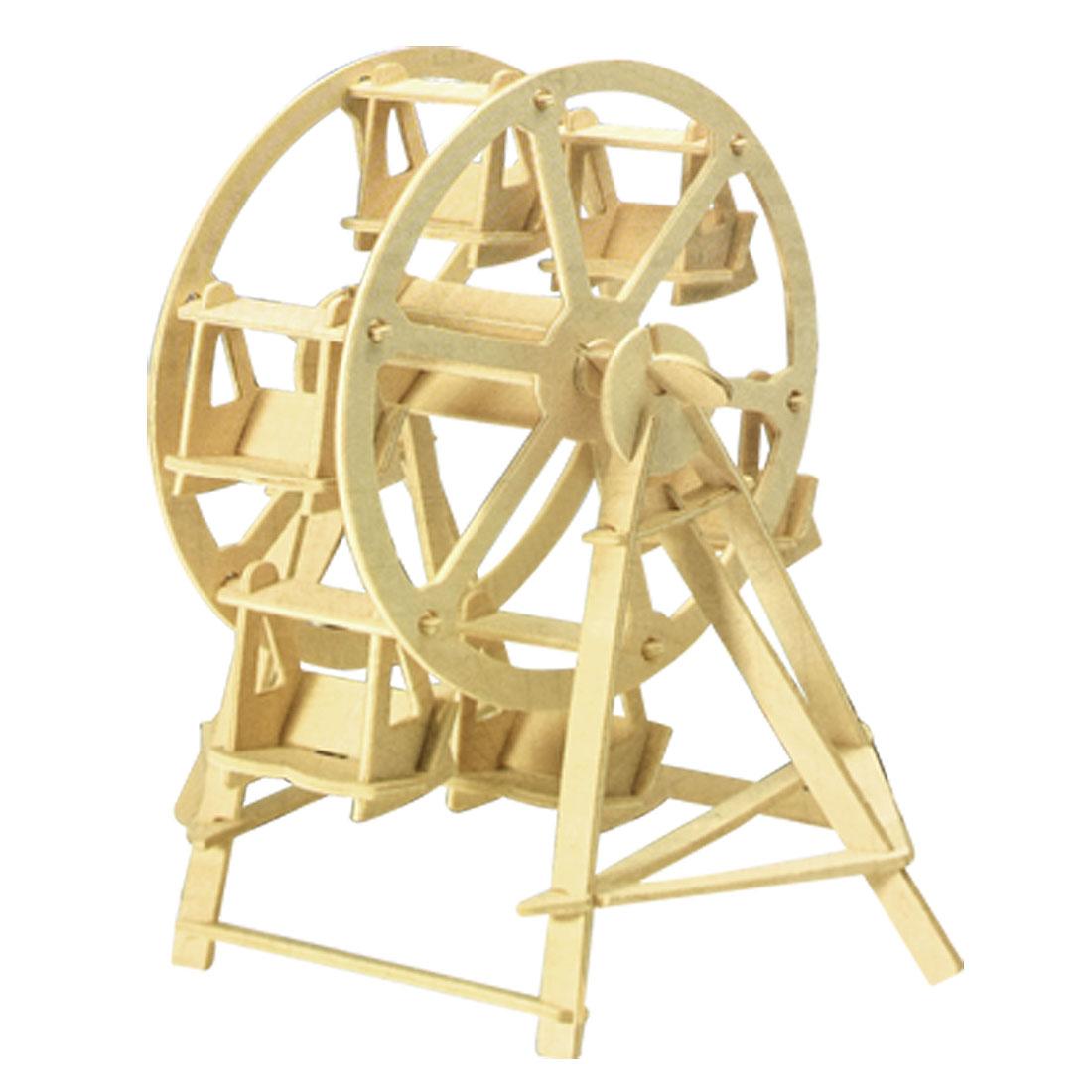 Children Puzzled Ferris Wheel Model 3D Wood Puzzle Toy Construction Kit