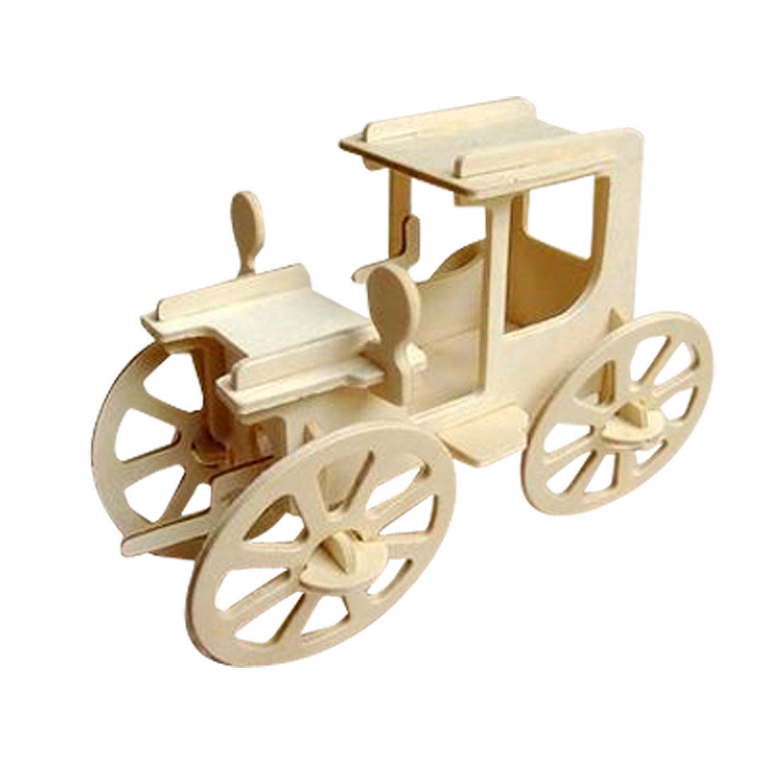 Wooden Assemble 3D Rolling Automobile Model DIY Wood Craft Construction Kit Gift