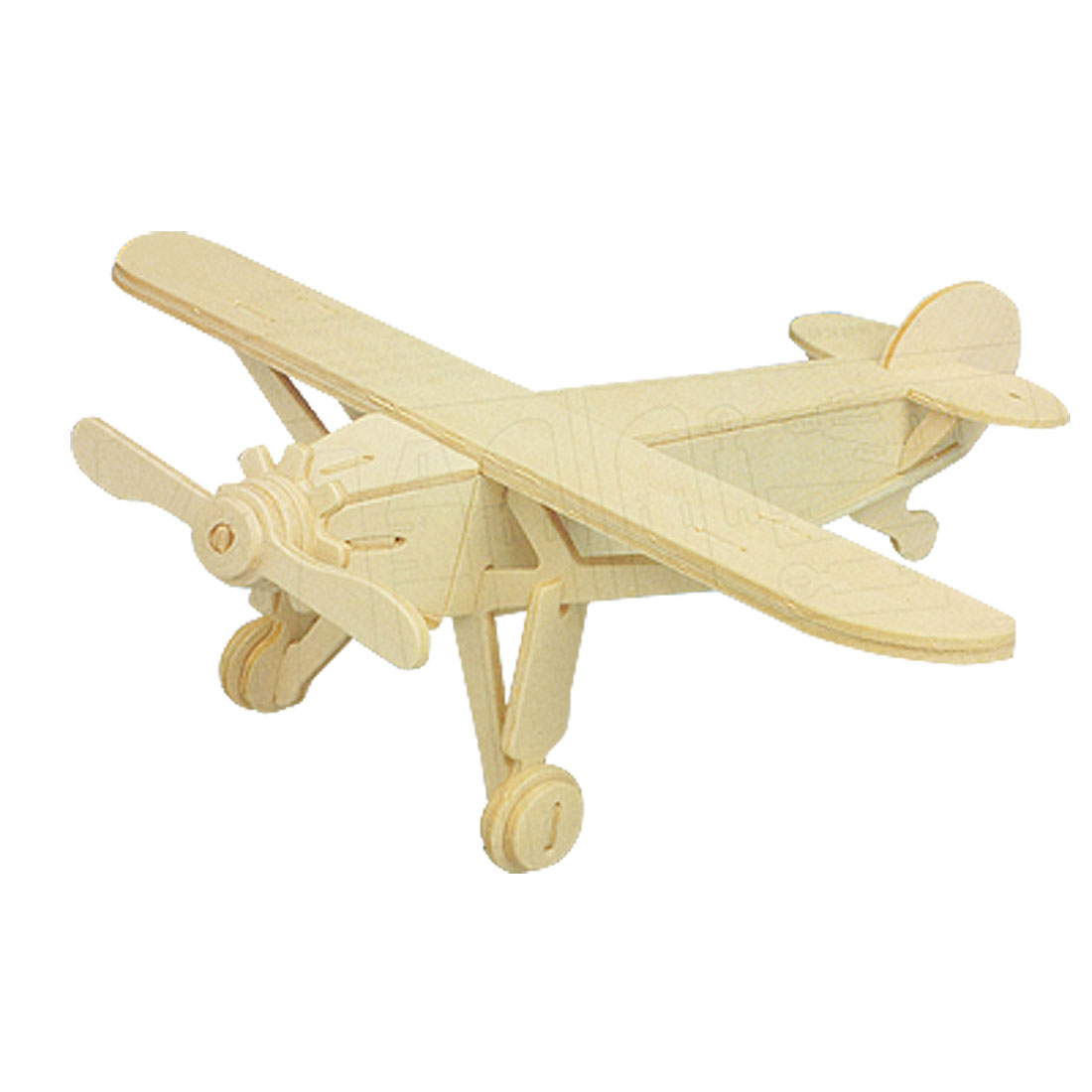 Child 3D Wood Craft Wooden Louis Plane Model Construction Kit Puzzle Toy Gift
