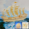 Assemble 3D Wooden Sailboat in Ming Dynasty Model Puzzle Toy