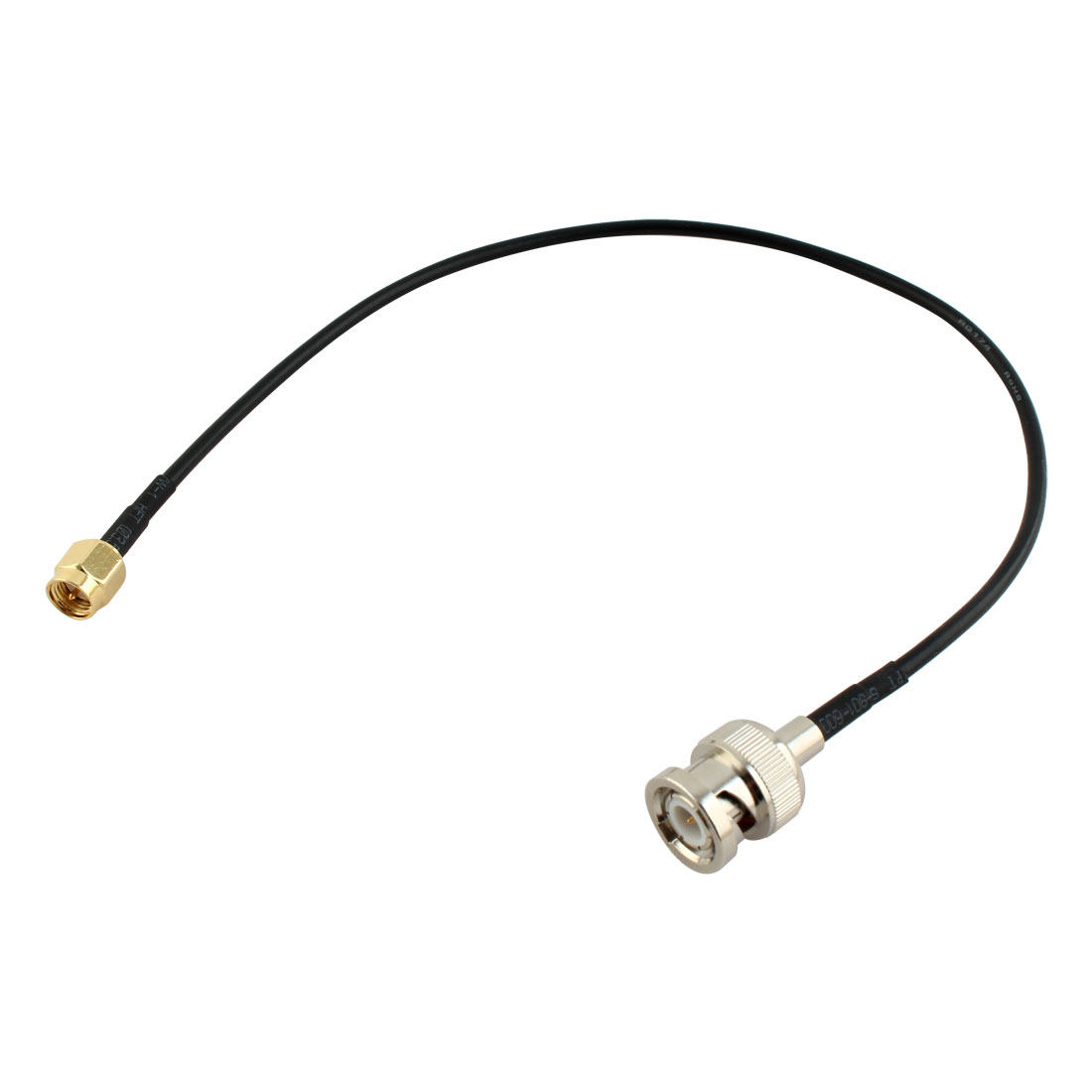 Metal 12.8 Inch RF Pigtail Cable SMA Male to BNC Male Adapter Connector