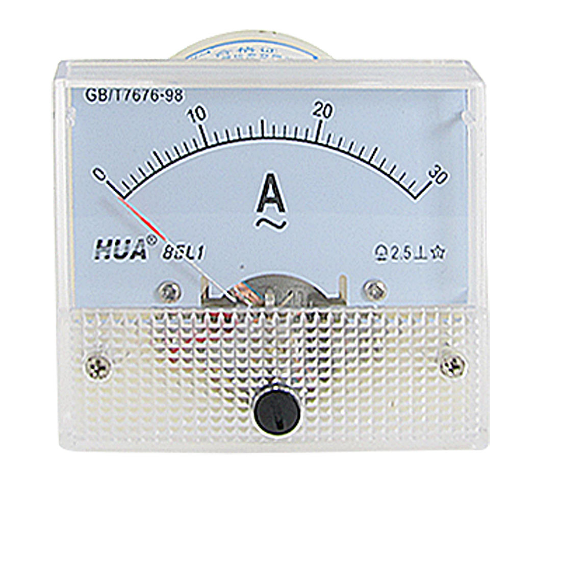 85L1 Plastic Housing AC 0-30A Rectangle Analog Panel Meter Ammeter Gauge