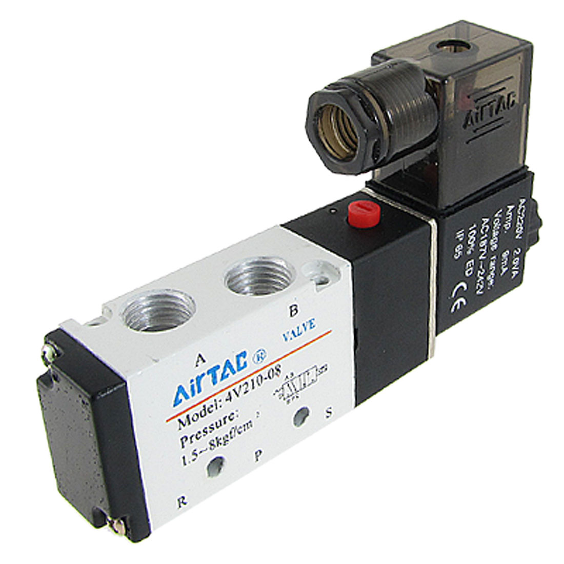 AC220V Single Head 2 Position 5 Port Air Control Solenoid Valve 4V210-08