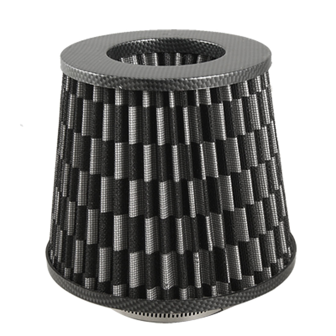 "3"" Universal High Flow Carbon Fiber Dry Cone Cold Air Intake Filter Black"