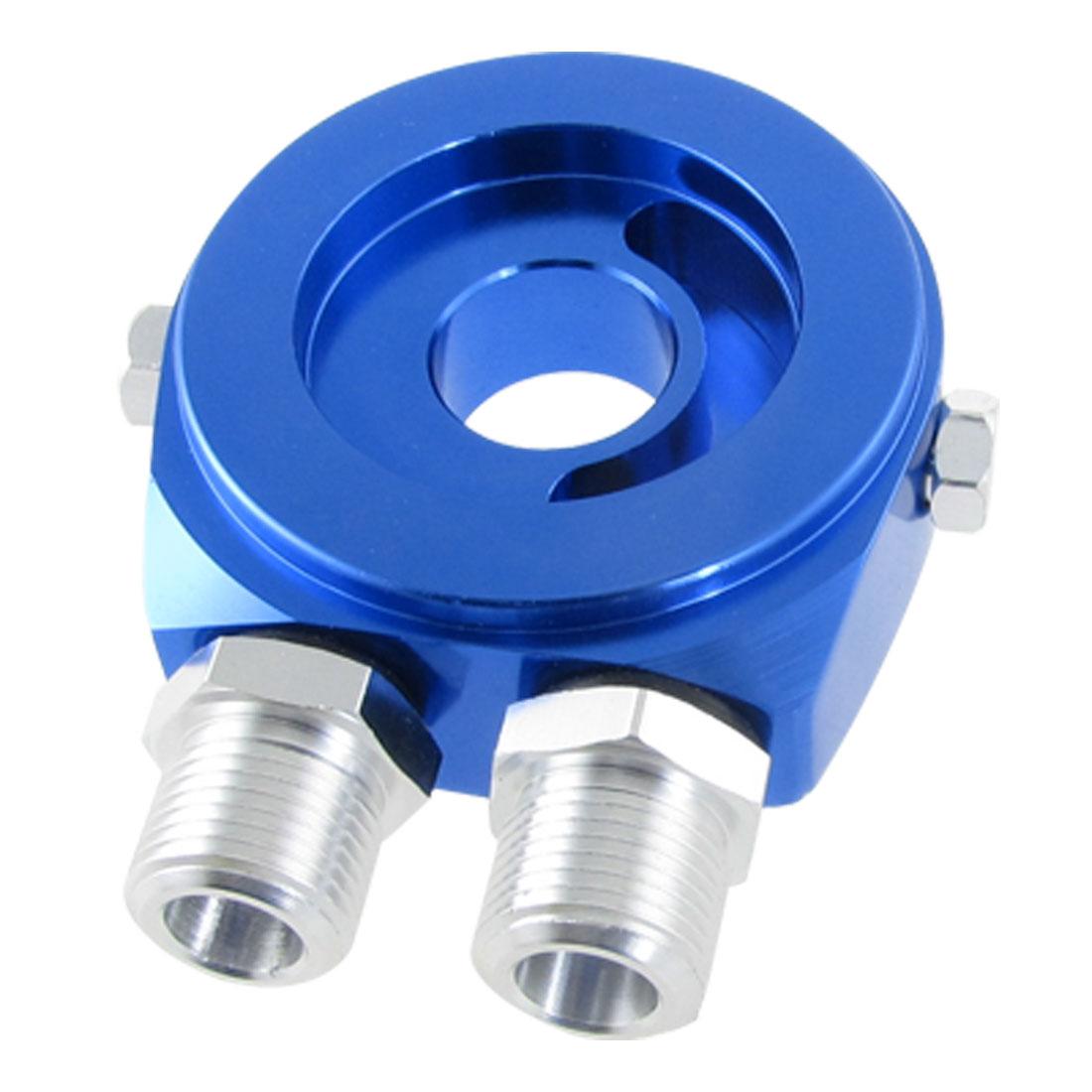 Metal Oil Filter Sandwich Adapters Cooler Plate Blue