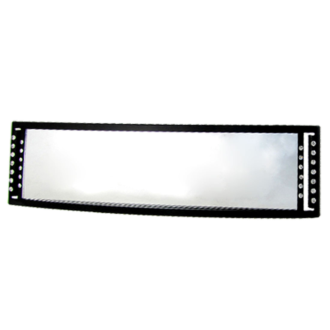 Universal 270mm Wide Convex Curve Clip On Crystal Rear View Mirror