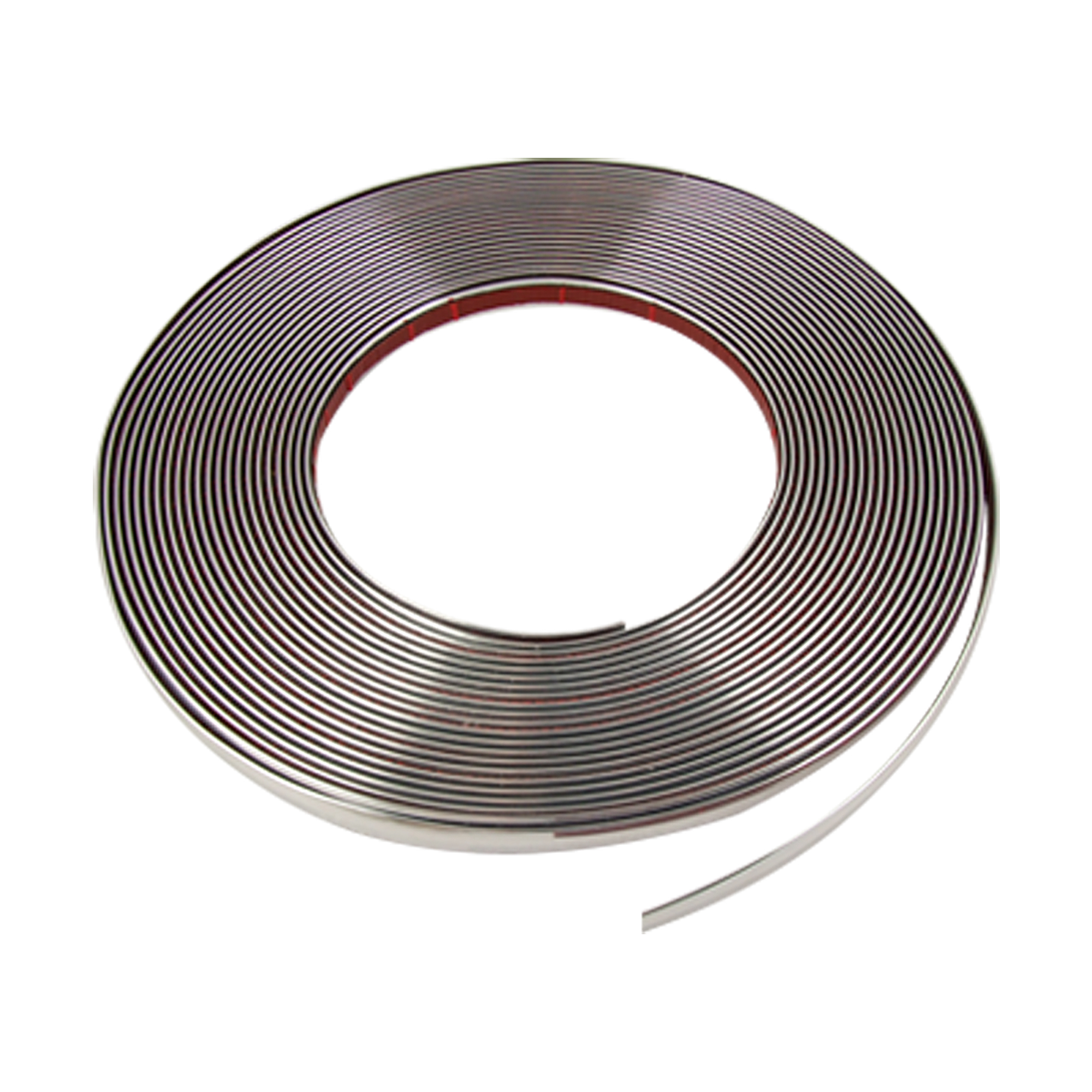 15M x 10mm Flexible Silver Tone Sticky Chrome Moulding Trim Strip for Car Auto