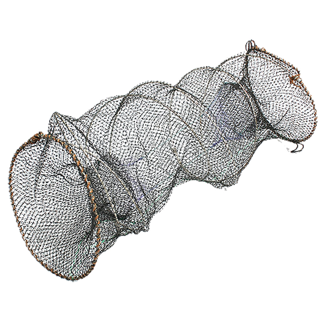 Black Mesh Spring Metal Frame Shrimp Fishing Net Cage