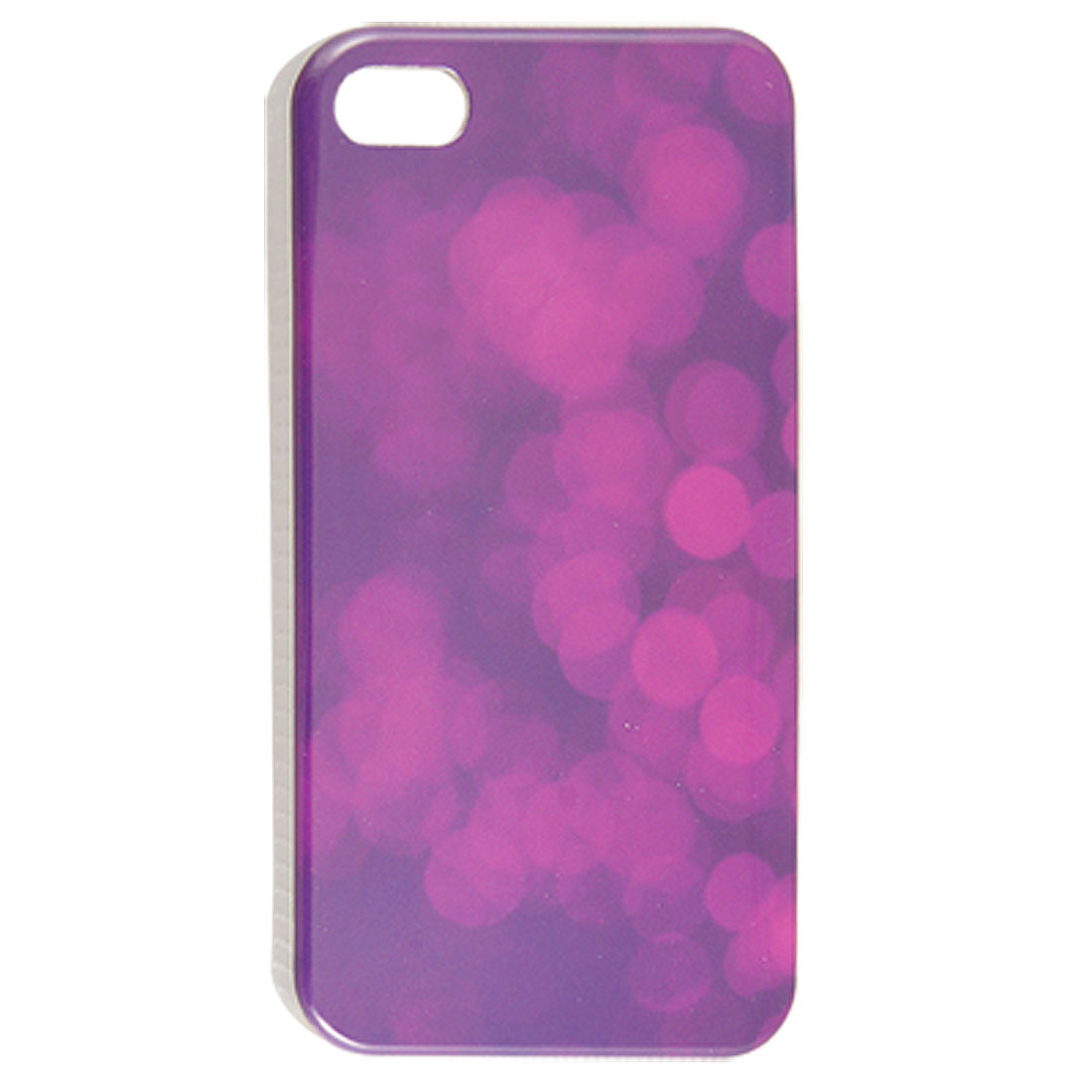 Defocused Light Abstract Pattern IMD Plastic Cover for iPhone 4 4G 4S