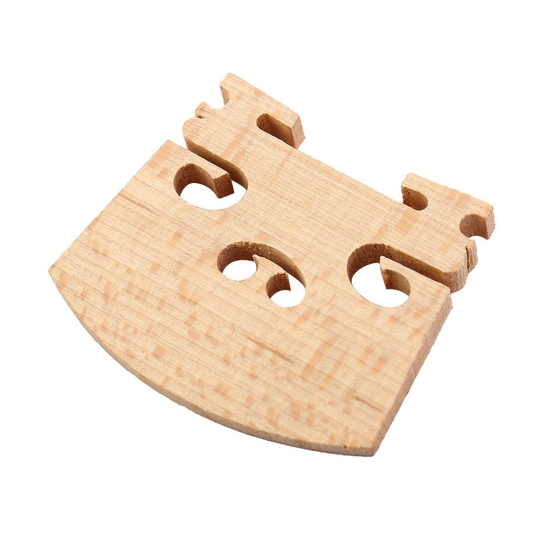 Replacement 1/4 Size Violin Parts String Centre Wooden Bridge