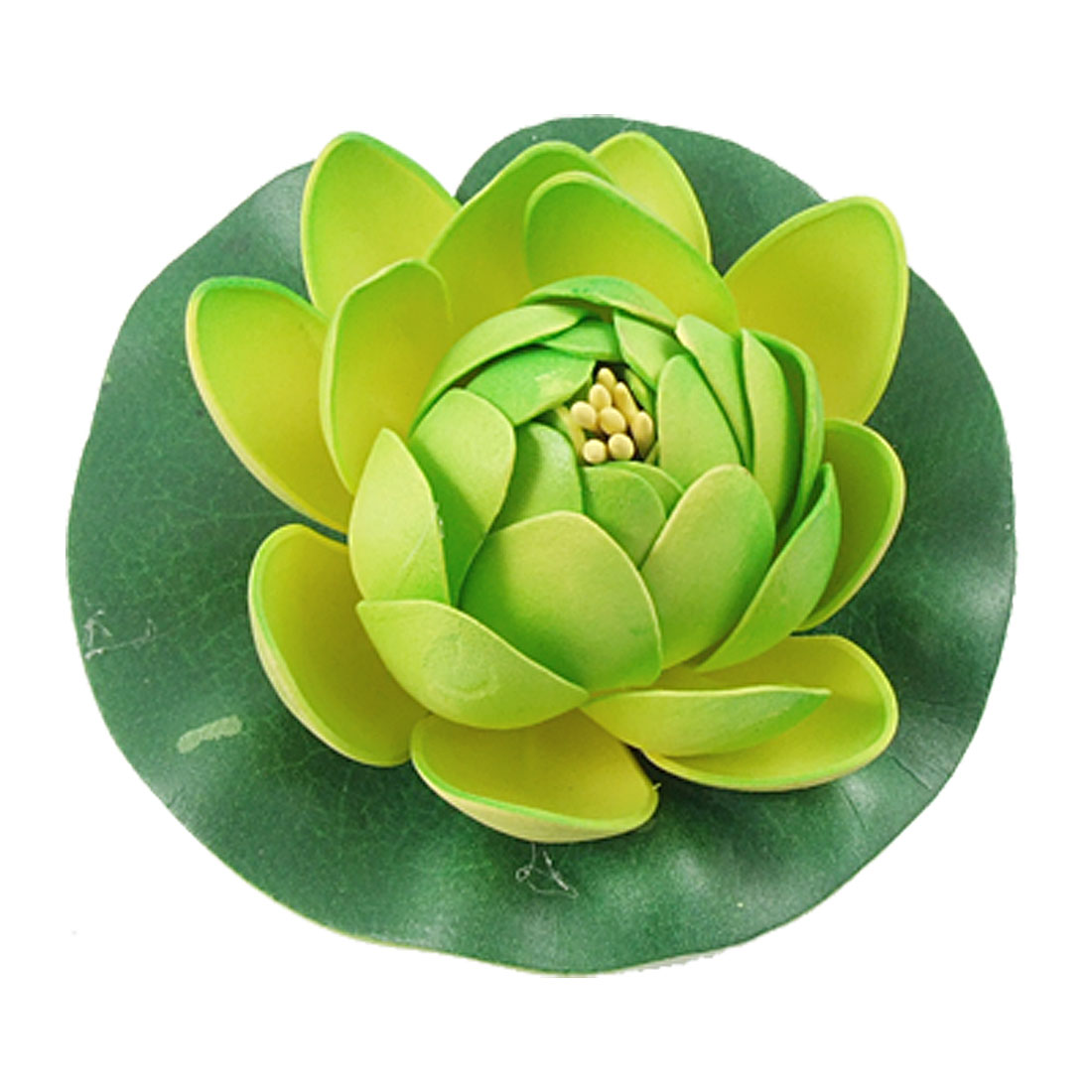 Green Yellow Aquarium Aquascaping Foam Floating Lotus Flower Lifelike Water Plant Ornament