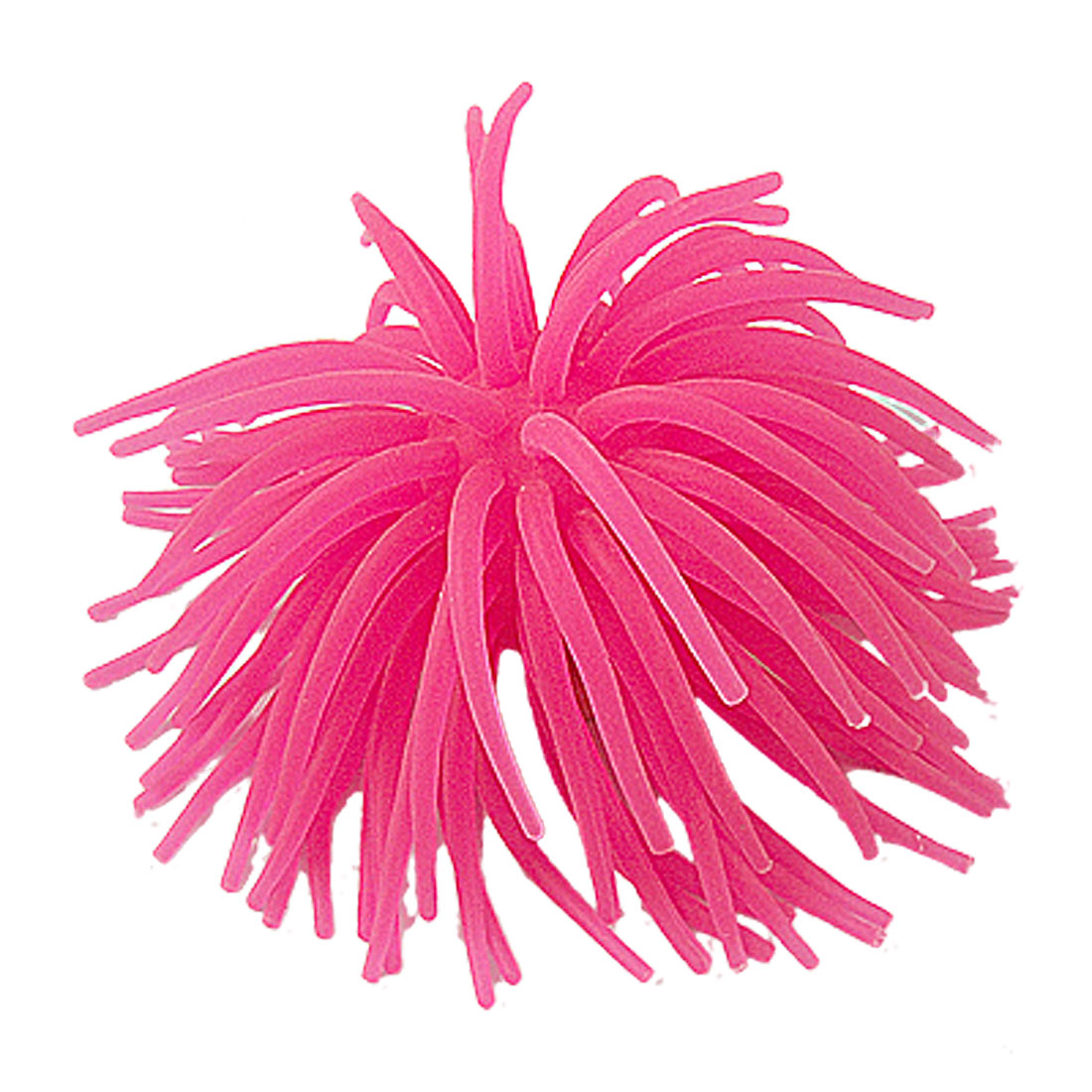 Silicone Magenta Manmade Coral Ornament for Fish Tank