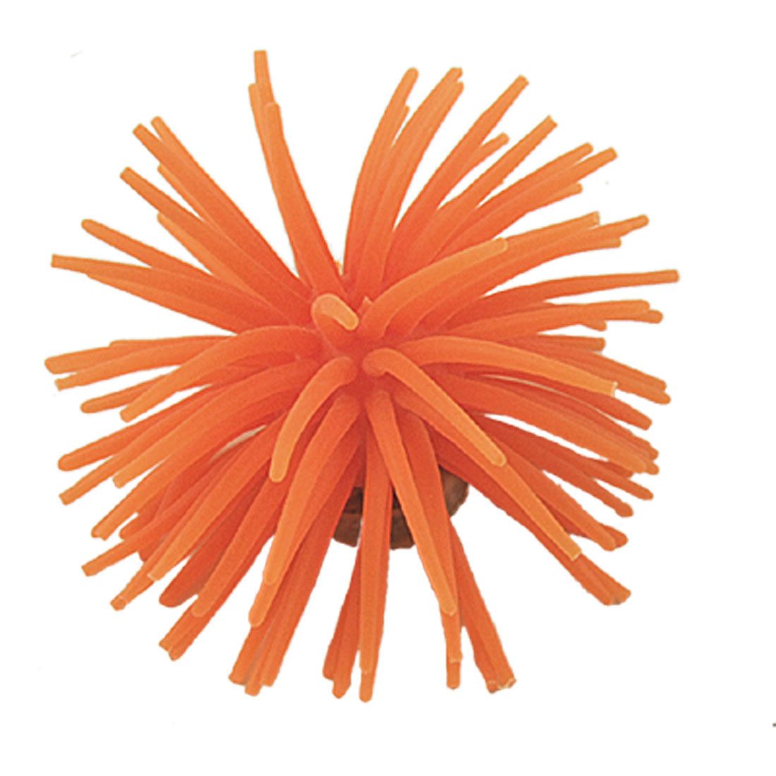 Orange Silicone Artificial Coral for Fish Tank Aquarium