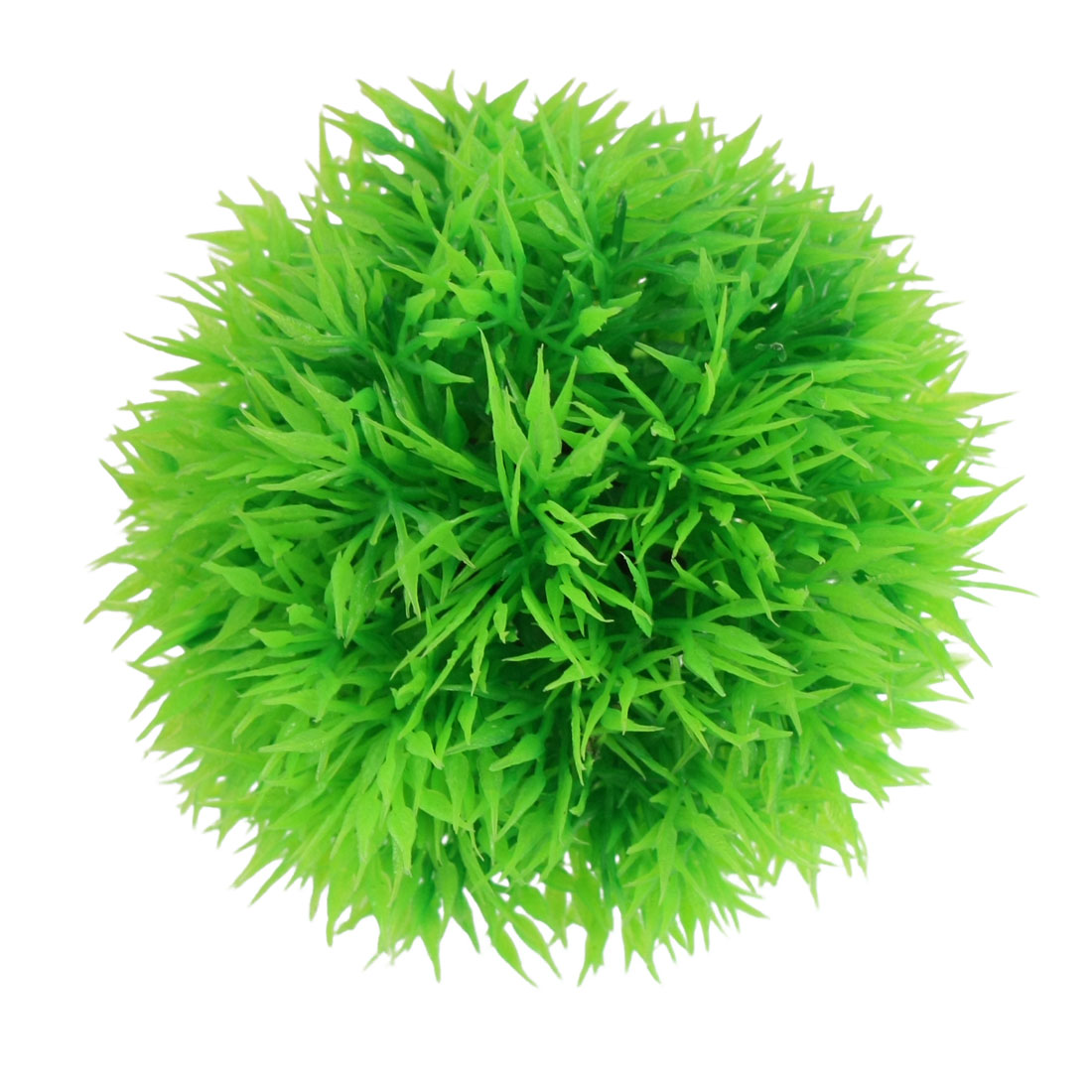 Aquarium Fish Tank Plastic Green Grass Ball Plant Decoration