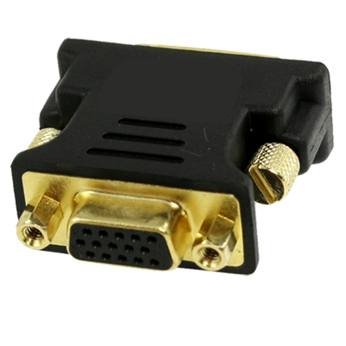 VGA Female to DVI-I Dual Link Male Connector Converter Adapter Black