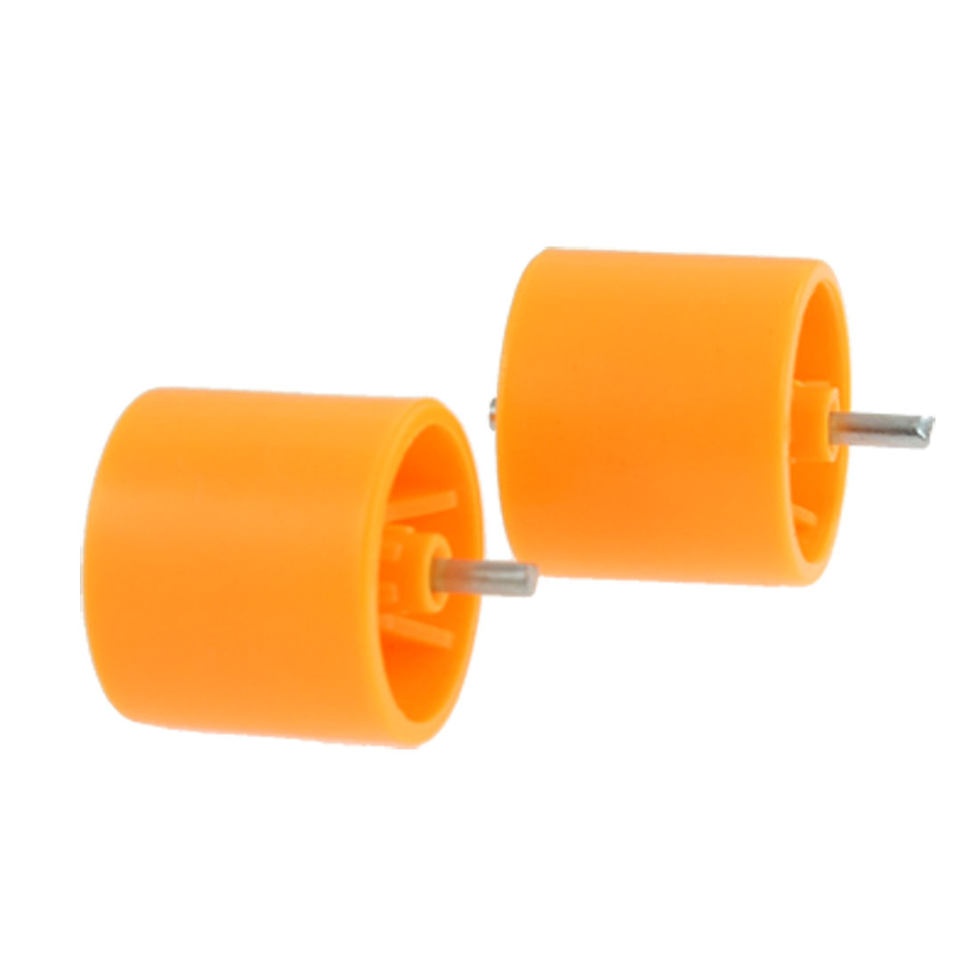 10 Pcs 27.4mm Outside Diameter Roller Conveyor Nylon Wheels Orange