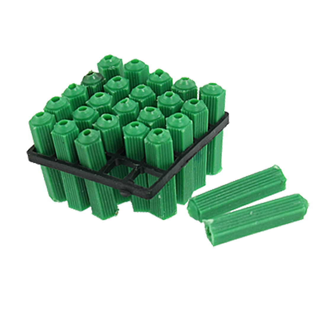 Masonry Fixing Green 8mm Nonslip Plastic Wall Connector 125 Pcs