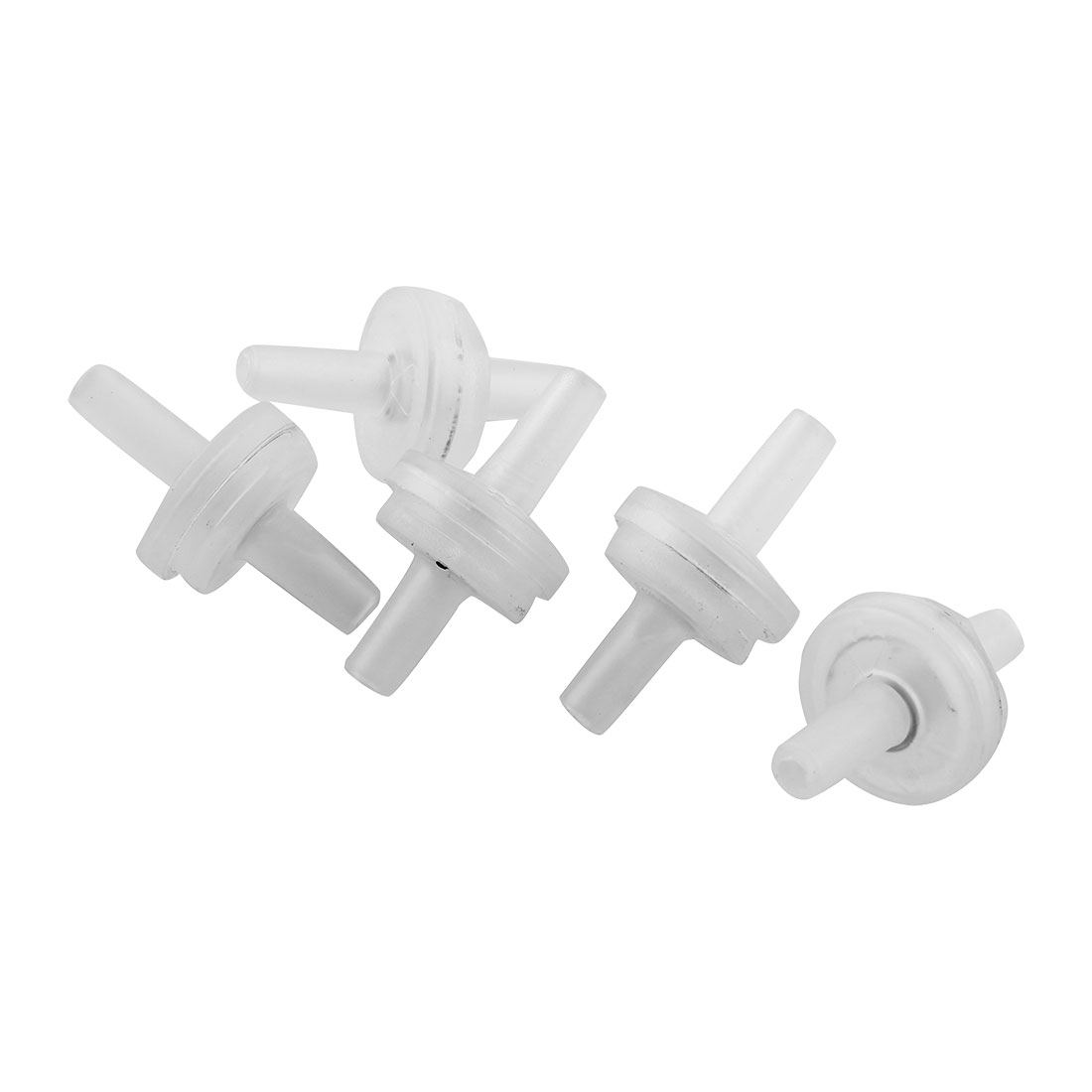 Aquarium Tank White Plastic Air Pump Outlet Check Valves 5 Pcs