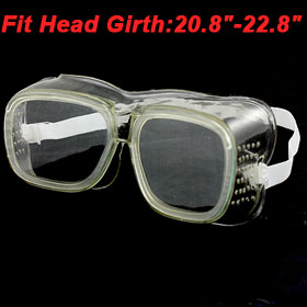 Factory Elastic Head Band Clear Soft Plastic Glasses Goggles
