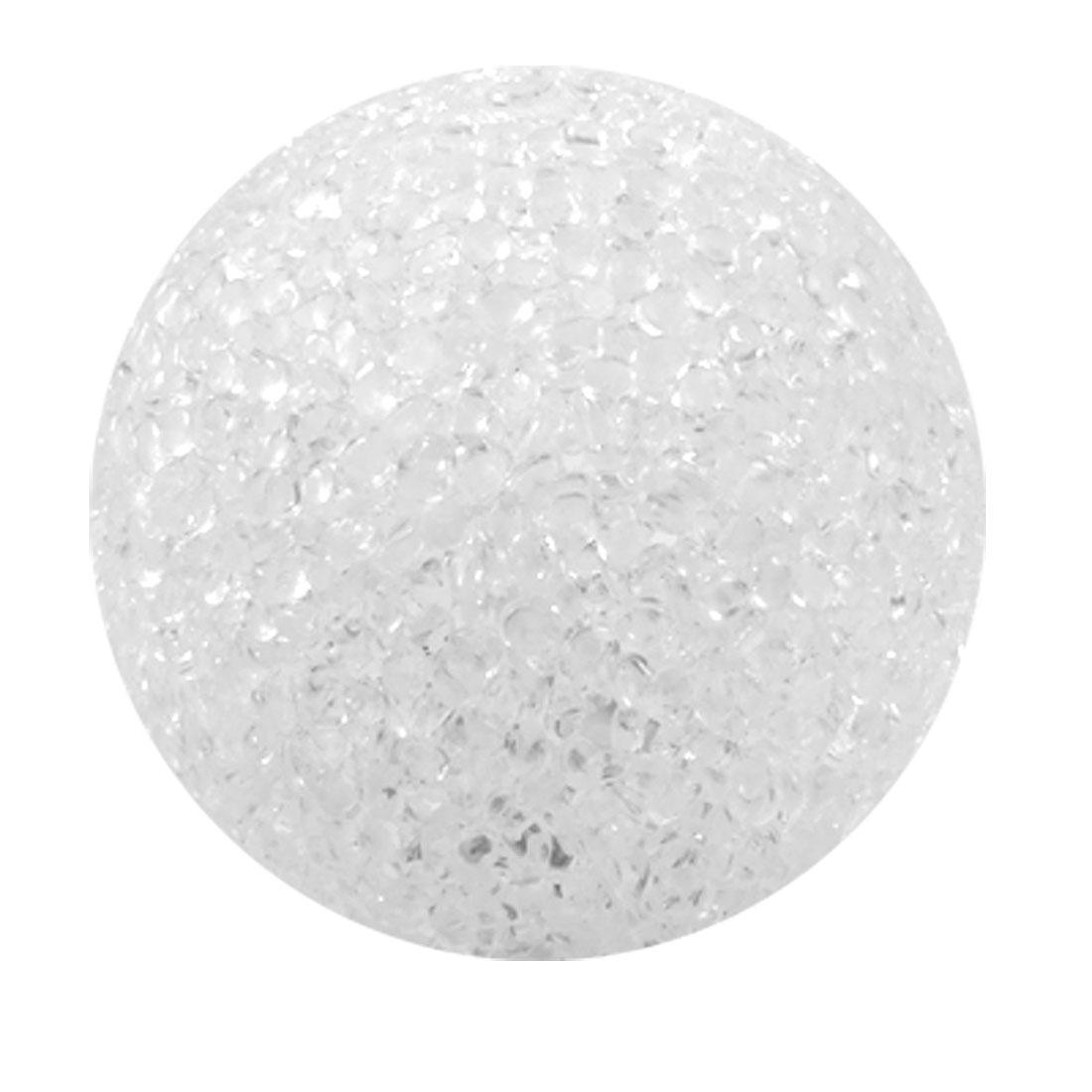White Plastic Crystal Ball Design Change Light LED Lamp Home Decoration