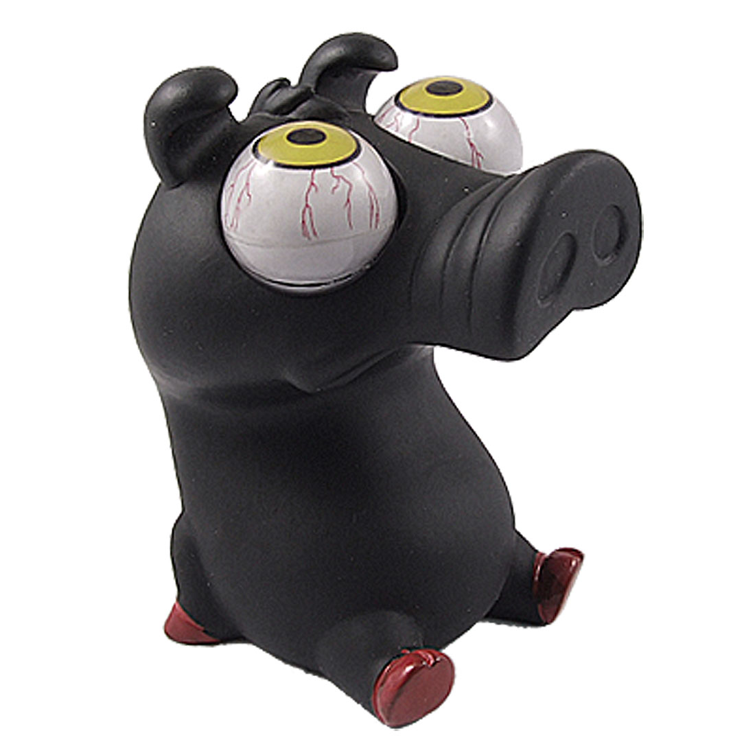 Big Pop Eyes Black Squeezing Emotion Release Rubber Pig Toy