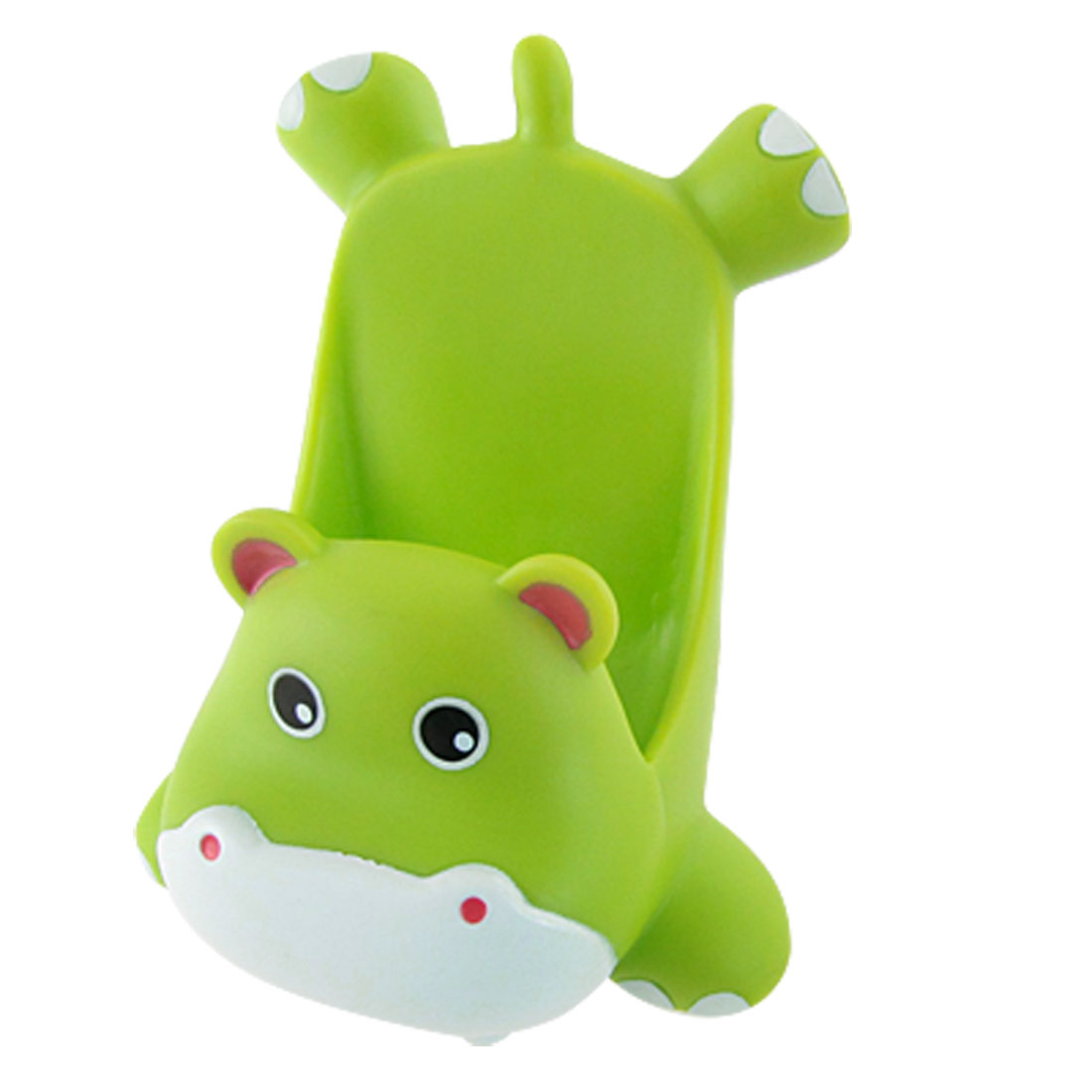 Mobile Phone Green Plastic Cartoon Hippo Shape Stand Holder