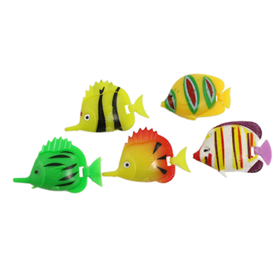 5 Pcs Manmade Plastic Swimming Ornament Fish for Aquarium