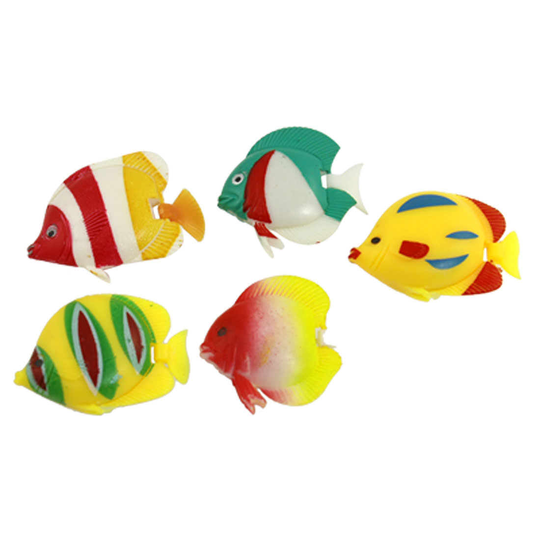5 x Plastic Manmade Swimming Tropical Fish for Aquarium