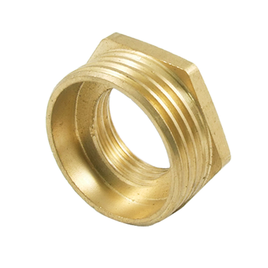 1PT Male to 1/2PT Female Brass Hex Bushing Pipe Reducer Connector Fitting