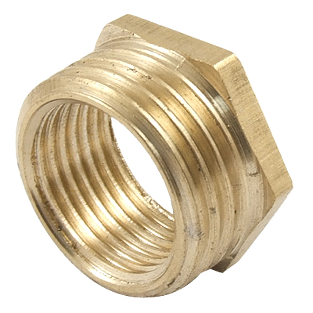 Brass 20 x 15mm Thread Hex Bushing Pipe Reducer Connector