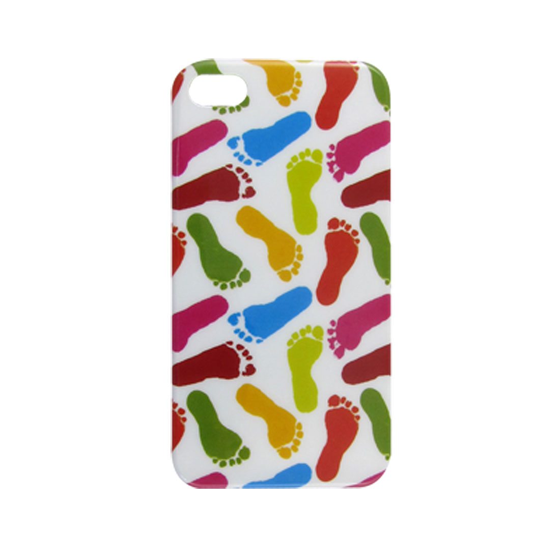 Plastic IMD Pastel Footprint Shield Cover for iPhone 4 4G 4S