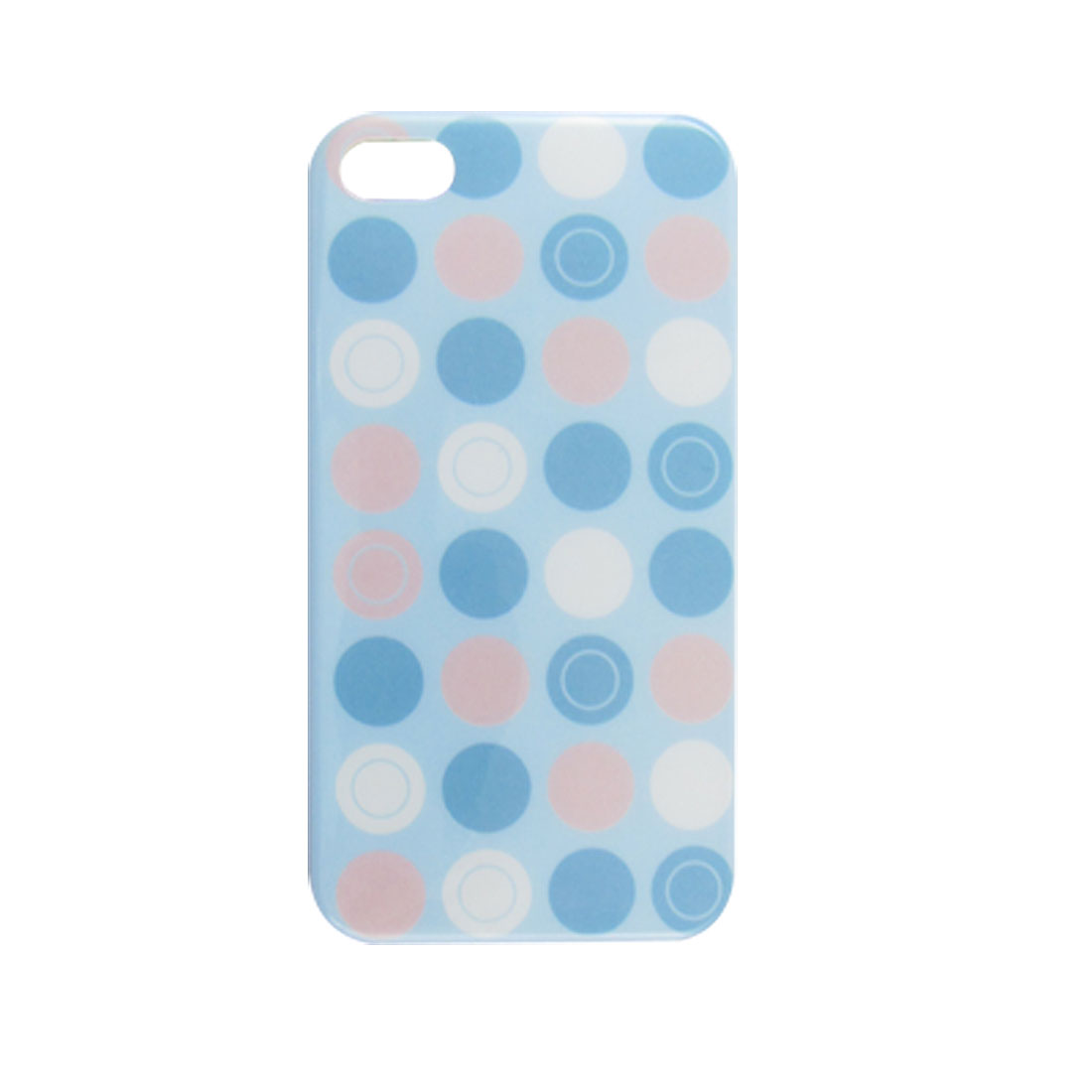 IMD Dotted Blue Hard Plastic Back Case for iPhone 4 4G 4S