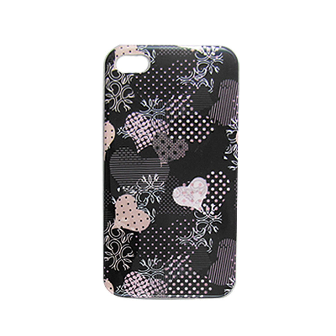 IMD Dot Heart Print Hard Plastic Shell Cover for iPhone 4 4G 4S