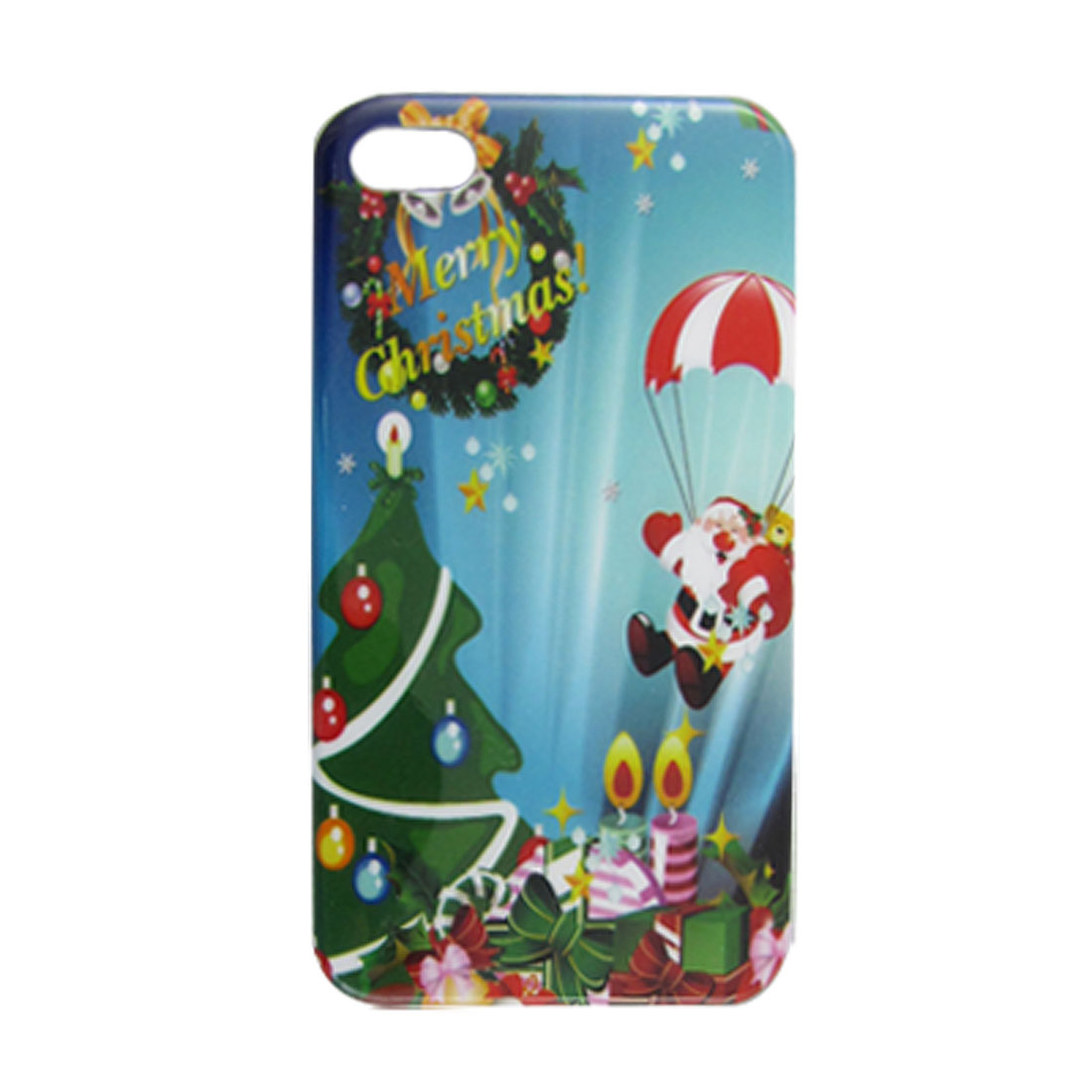 IMD Santa Claus Print Hard Plastic Back Case for iPhone 4 4G 4S