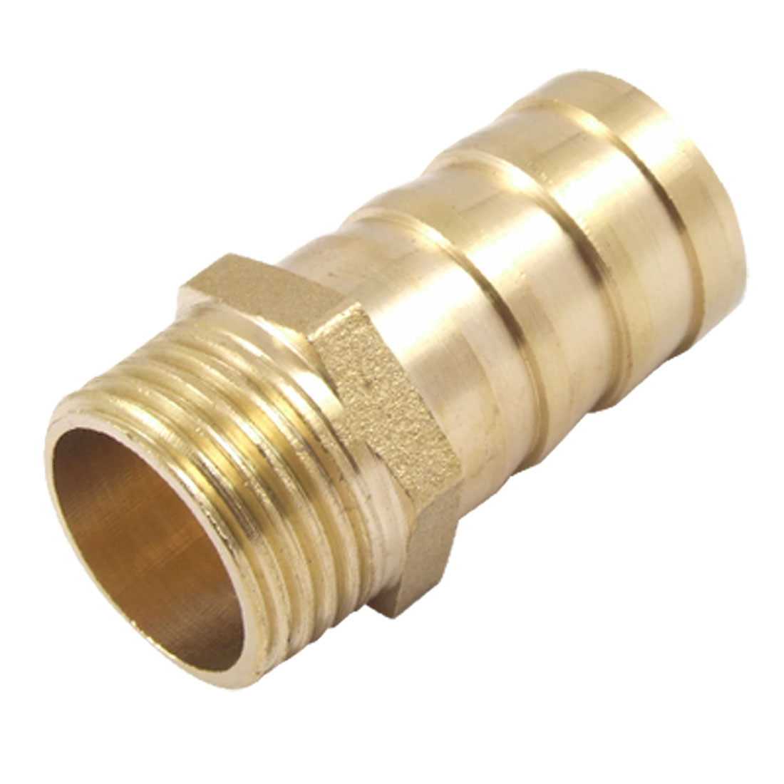 20.4mm OD Threaded 19mm Pneumatic Air Hose Straight Barb Fitting Coupling