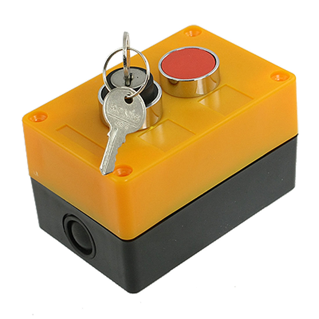 AC 400V 10A 2 Position Key Lock Selector Select Red Momentary Push Button Switch Station NO NC