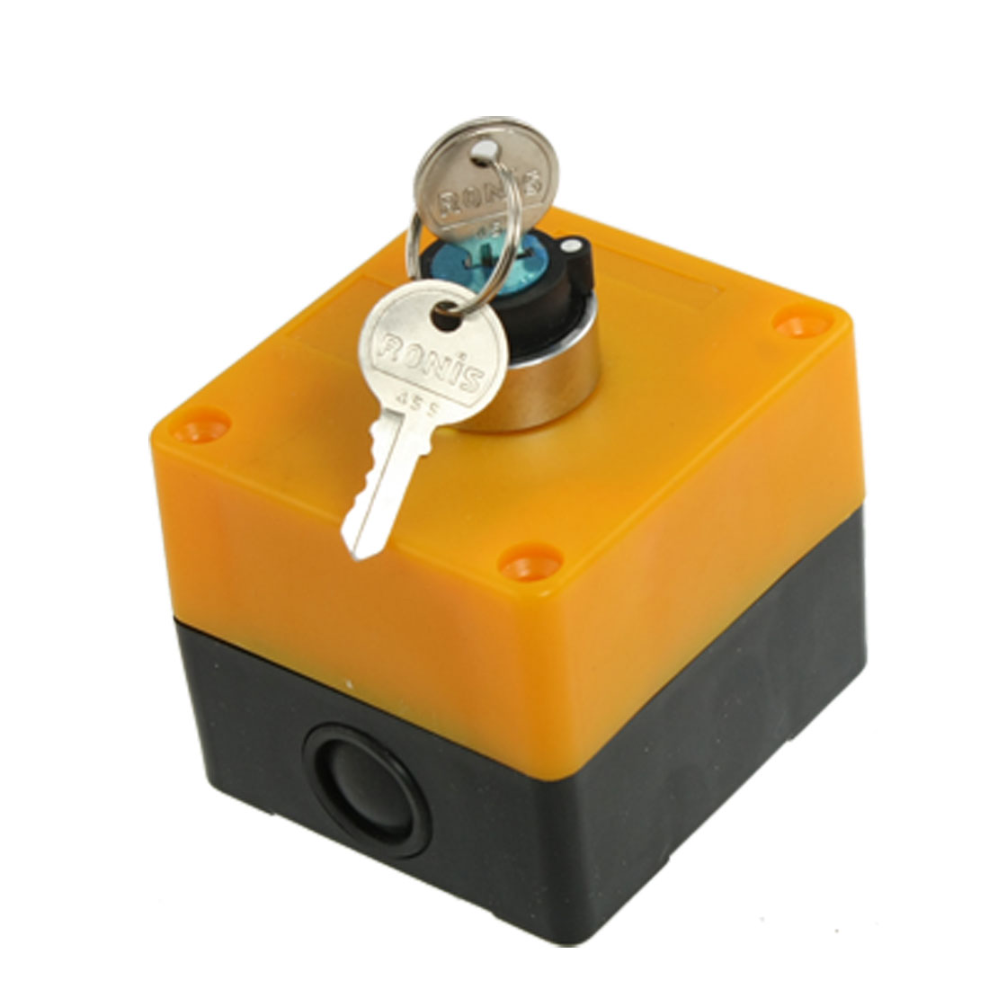 AC 400V 10A 2 Positions NO Contact Keylock Rotary Switch w Keys
