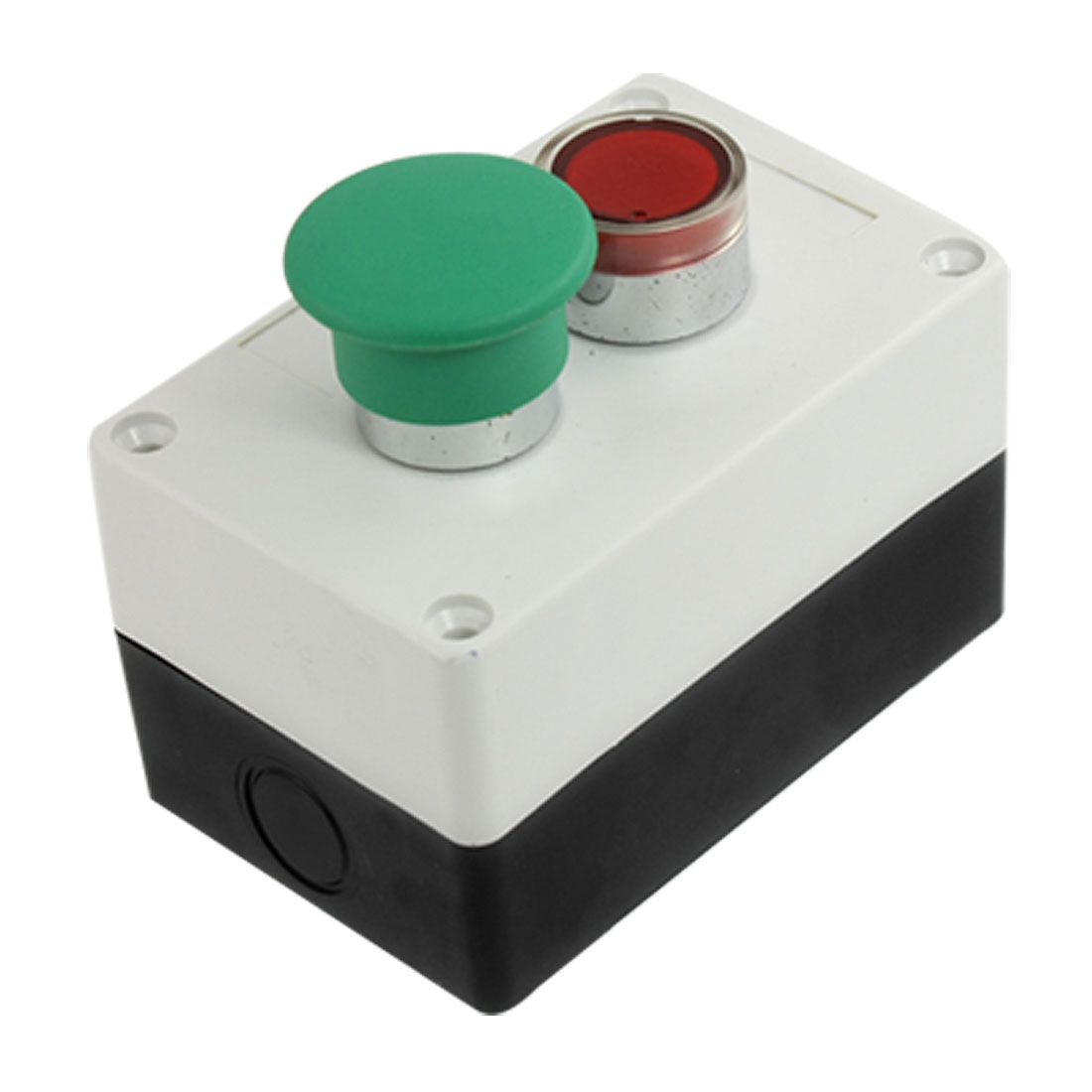 AC 240V 3A NO NC Green Mushroom Red Signal Light Momentary Push Button Switch